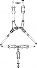 MPS Hi-Low 5 Point Harness Small