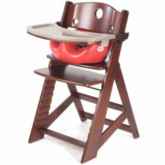Height Right High Chair + Infant Insert - Mahogany